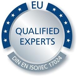 immoorga Gutachter Markenzeichen: Qualified Experts DIN EN ISO/IEC 17024